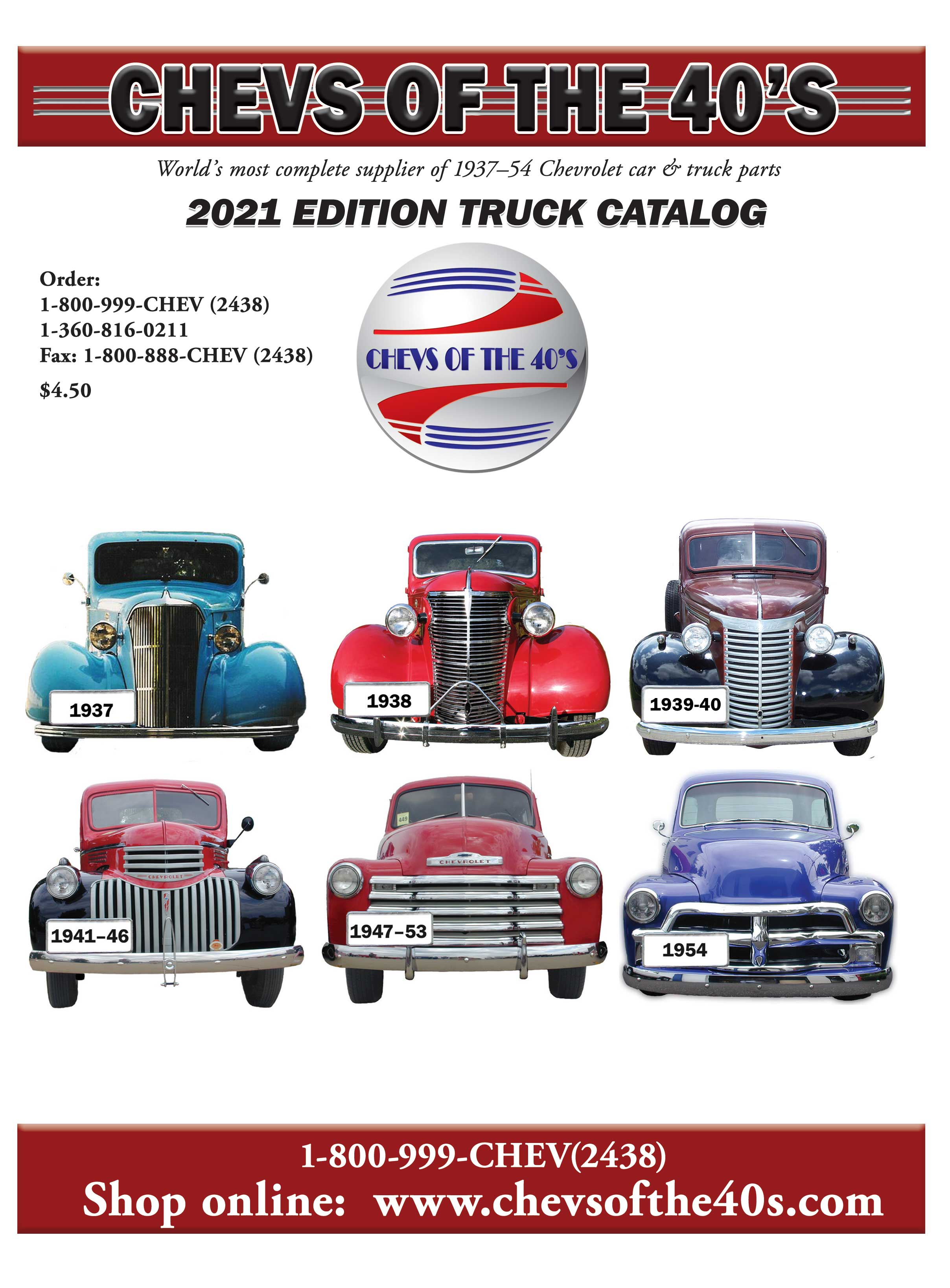 Chevs of the 40s 1937 1954 chevrolet classic restoration parts chevs truck catalog 1betcityfo Gallery