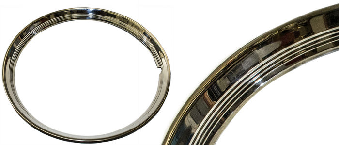 "Chevrolet Parts -  Beauty Ring, 16"" (Outer Wheel Trim) Ribbed"