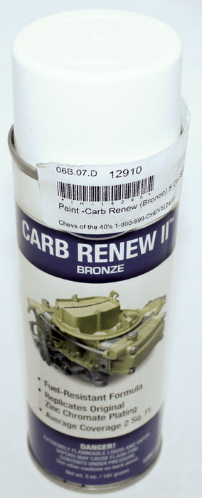 Chevrolet Parts -  Paint - Carb Renew (Bronze) 5 Oz. Spray Can