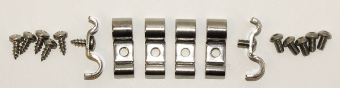 "Parts -  Line Clamps -Holds 3/16"" X 3/8"" Combination Lines With Hardware. Stainless Steel"