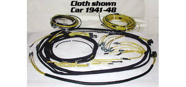 Chevrolet Parts -  Wiring Harness Chevy Car (Main) With Headlight Pigtail, Tail Light Harness