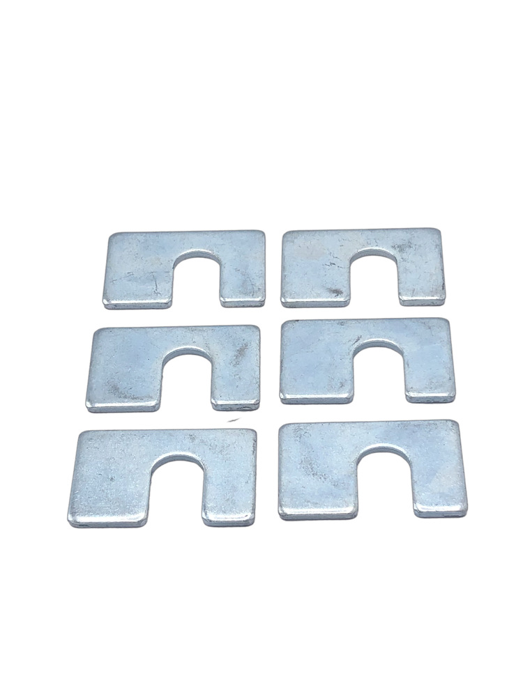 "Chevrolet Parts -  Body Mount Shims, 1/8"" Thick, 1-3/4"" X 1-1/8"" With 1/2"" Slot"