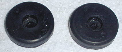 Chevrolet Parts -  Convertible Top Pads (Rubber) For Top Rests In Well