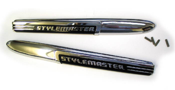 "Chevrolet Parts -  Hood Side Name Plate ""Stylemaster"""