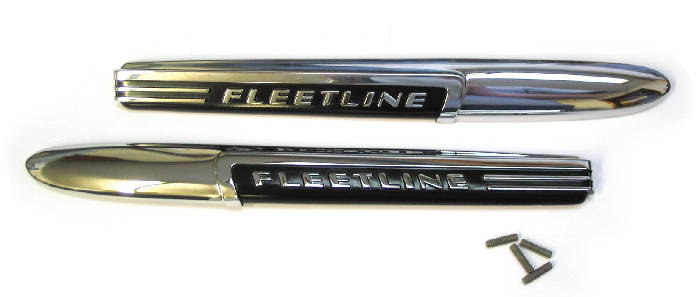 "Chevrolet Parts -  Hood Side Name Plate ""Fleetline"""