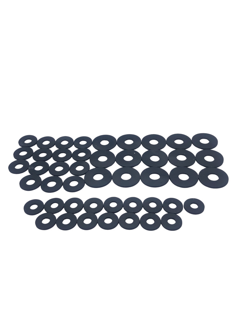 Chevrolet Parts -  Rubber Washers (48 Per Set) -Thin Cushion
