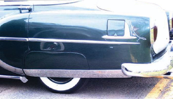 Chevrolet Parts -  Fender Skirt Trim (Bloomers) -Lower Stainless. Belair, 210