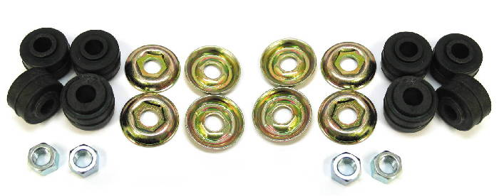 Chevrolet Parts -  Shock Bushings, Rubber With Washers & Nuts (8 Sets)