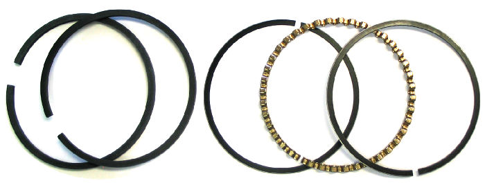 Chevrolet Parts -  Piston Rings - 1954-62 261ci. Choose Size: Std, .010, .020, .030 Or .060 Over