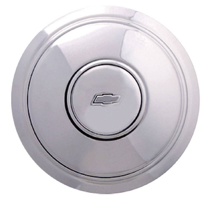 Chevrolet Parts -  Hub Cap, Police Style With Bowtie For Rally Wheel