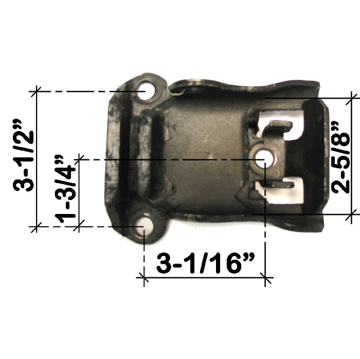 Chevy Parts 187 Motor Mount With Anti Torque Lock