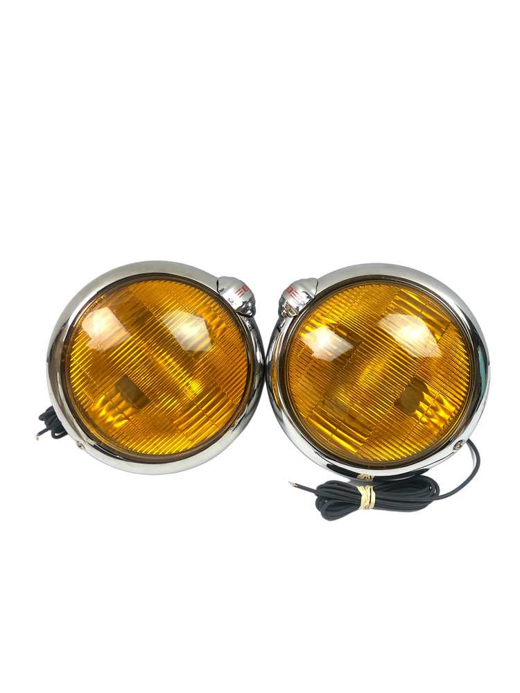 "Chevrolet Parts -  Fog Lights (6v, 6"") Amber With Brackets"