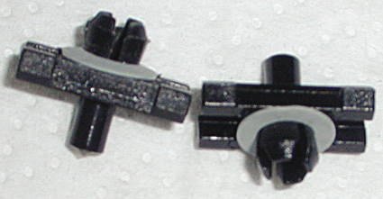 Chevrolet Parts -  Moulding Clips - Exterior Upper Door Moulding (Below Window)