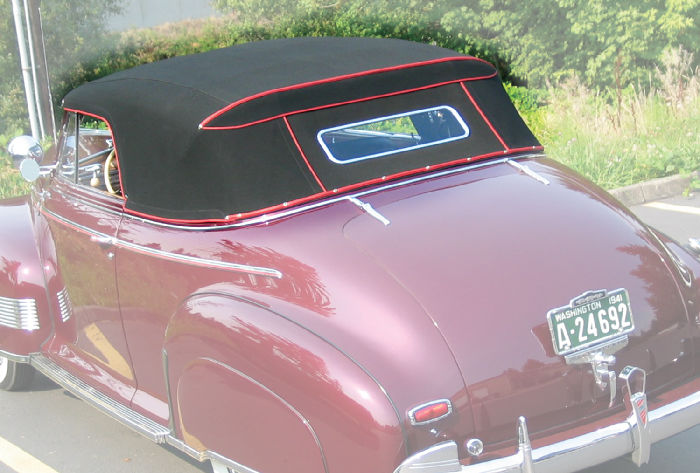 Chevrolet Parts -  Convertible Top Cloth (Stayfast). Complete With Rear Curtain For Cabriolet