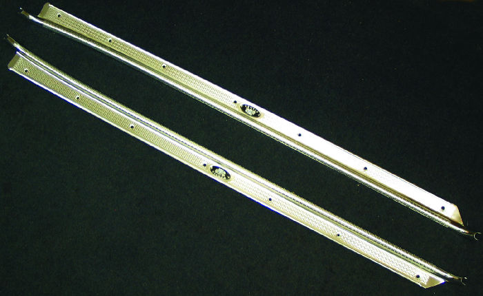 Chevrolet Parts -  Sill Plates - Aluminum, 2-Door (Except Convertible, Hardtop & Sedan Delivery)