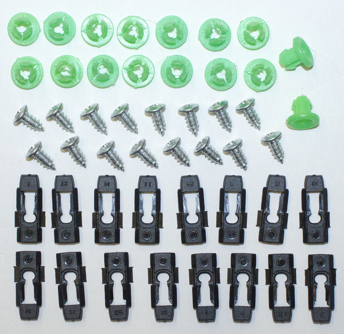 Chevrolet Parts -  Moulding Clips - Door (Under Windows) Clips- Exterior Upper Door Moulding
