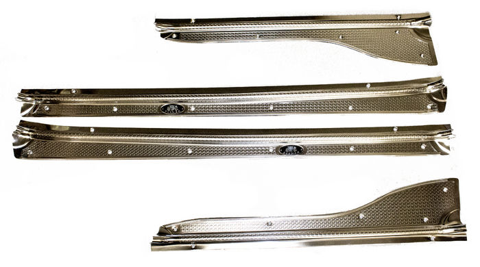 Chevrolet Parts -  Sill Plates Aluminum, 4 Door And Wagon