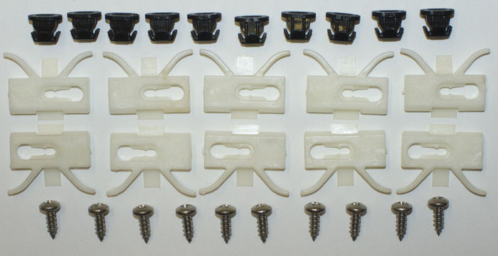 Chevrolet Parts -  Moulding Clips - Exterior Reveal Moulding Above Quarter Window (2-Door & Coupe)