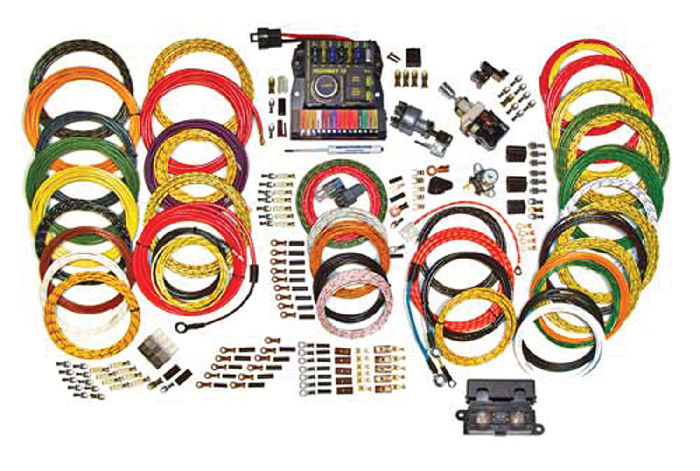Parts -  Wiring Harness - 'Highway 15' Nostalgia (Braided & Lacquered Wiring Kit)