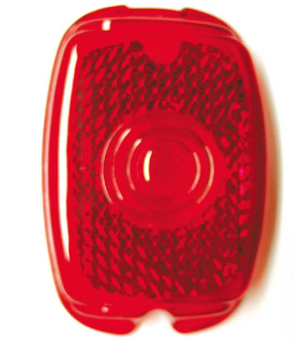 "Chevrolet Parts -  Lens - Tail Light (Plastic) 4"" X 2-3/4"""