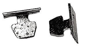 Chevrolet Parts -  Hood Side Moulding Clips (Except '38 Center Moulding) Does One Moulding
