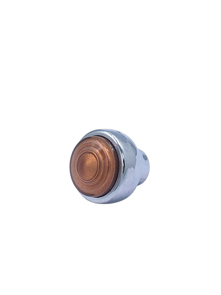 Chevrolet Parts -  Radio Knob -Chrome With Copper Swirl