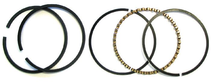 Chevrolet Parts -  Piston Rings - 1937-53 216ci. Choose Size: Std, .020, .030, .040 Or .060 Over