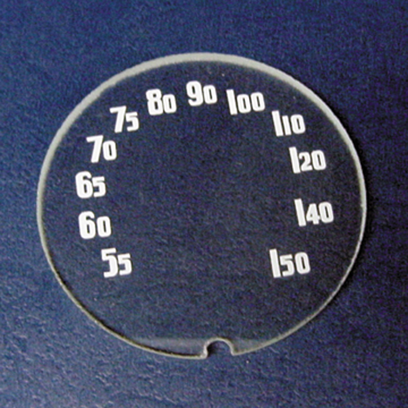 "Chevrolet Parts -  Radio Dial Lens, 2"" Diameter"