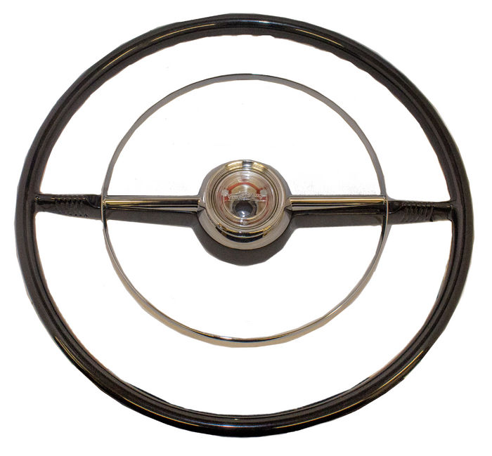 Parts -  Steering Wheel, Bel Air Black With Unpainted Horn Button