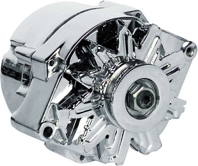 chevy parts alternator 12v chrome internally regulated. Black Bedroom Furniture Sets. Home Design Ideas