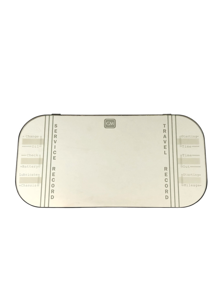 "Chevrolet Parts -  Mirror Vanity  (Complete) ""Gm"" Script"