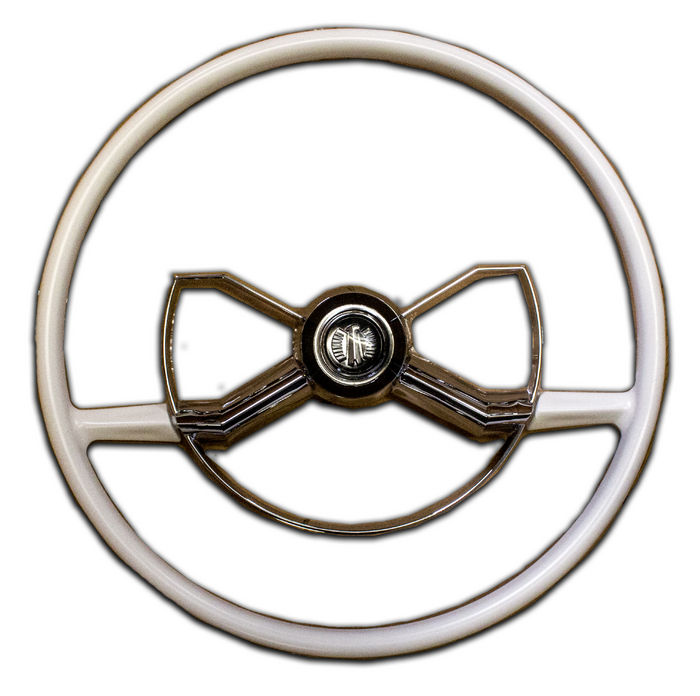 Chevy Parts 187 Steering Wheel Butterfly Accessory White