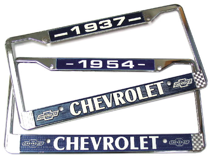 Chevrolet Parts -  License Plate Frame - Year On Top (Except 42 & 46)