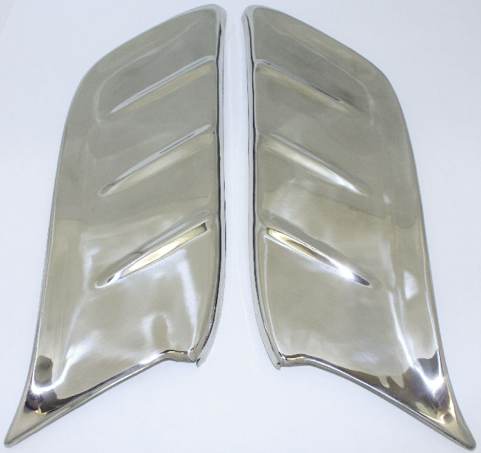 Chevrolet Parts -  Gravel Shields -Front Fender, Stainless