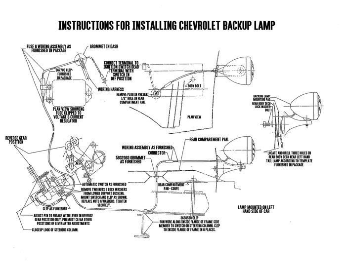 Chevy Parts » Printed Material » Accessory Install Sheets | Chevs of