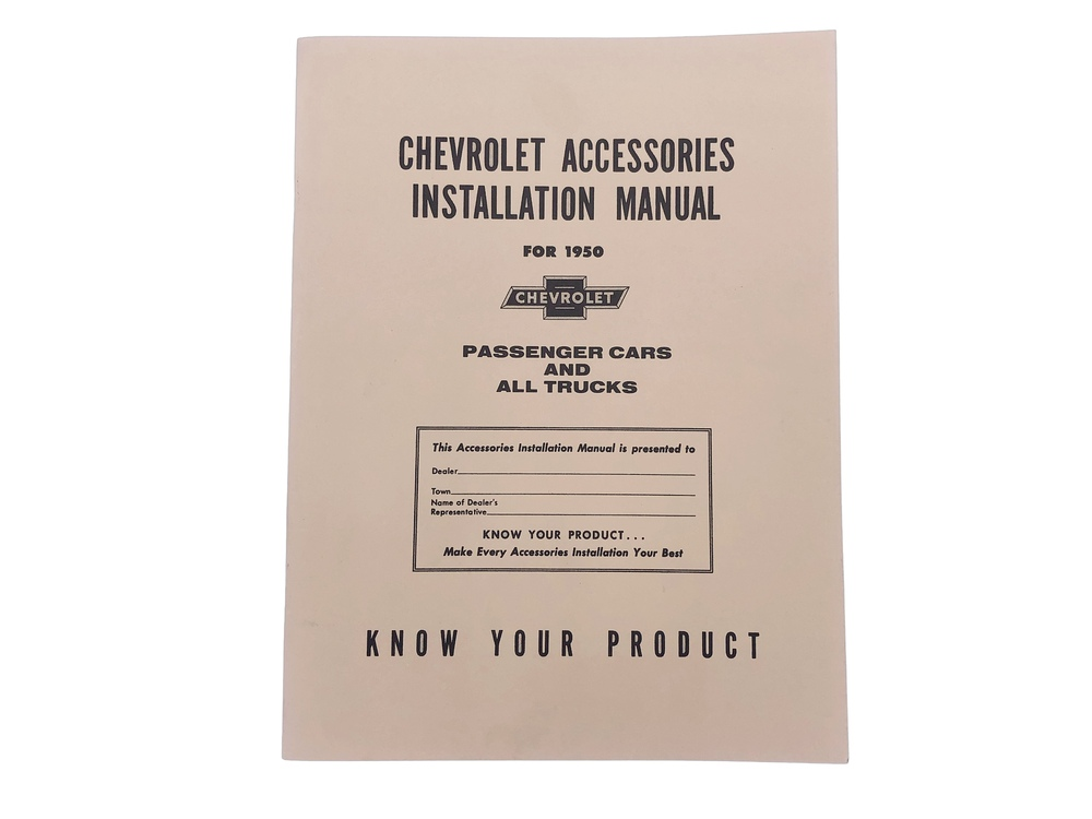 Chevy Parts » Accessory Installation Manual (Superb)