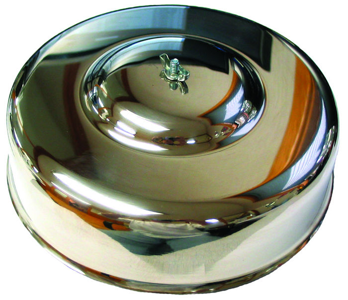 "Chevrolet Parts -  Air Cleaner Assembly, 9-1/2"" Diameter Stainless Steel, Smooth"