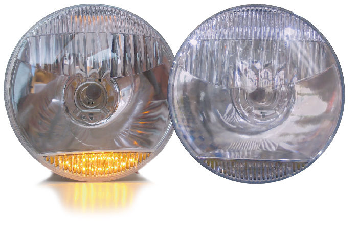 Chevy Parts 187 Headlight Halogen Lamp With Amber Led Park