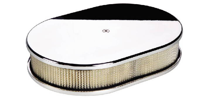 Billet Air Cleaner : Chevy parts air cleaner billet small oval smooth