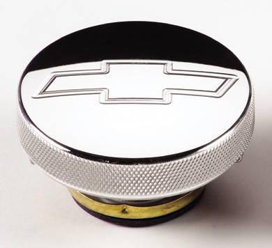 chevy parts radiator cap, billet chevrolet bowtie, 7lb Chevy Gas Cap radiator cap, billet chevrolet bowtie, 7lb photo main