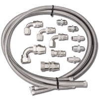 Chevy Parts » Power Steering Hose Kit  Braided Lines With Fittings
