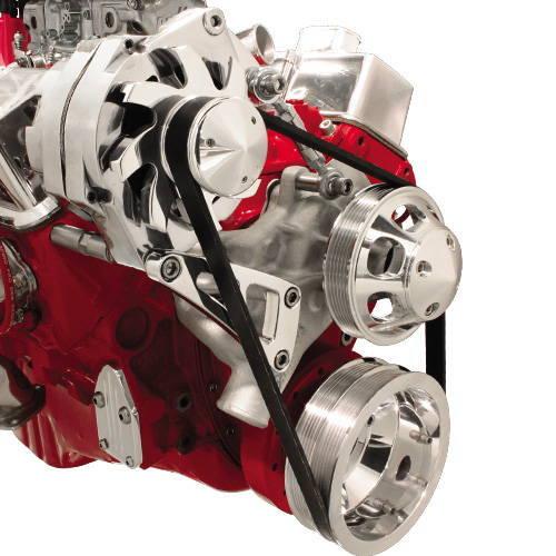 Small Block Chevy chevrolet Alternator Bracket Set long water pump 350 305 400