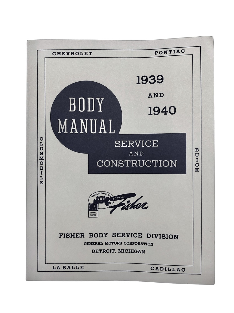Chevy Parts Printed Material Fishers Body Manuals Chevs Of The 40s