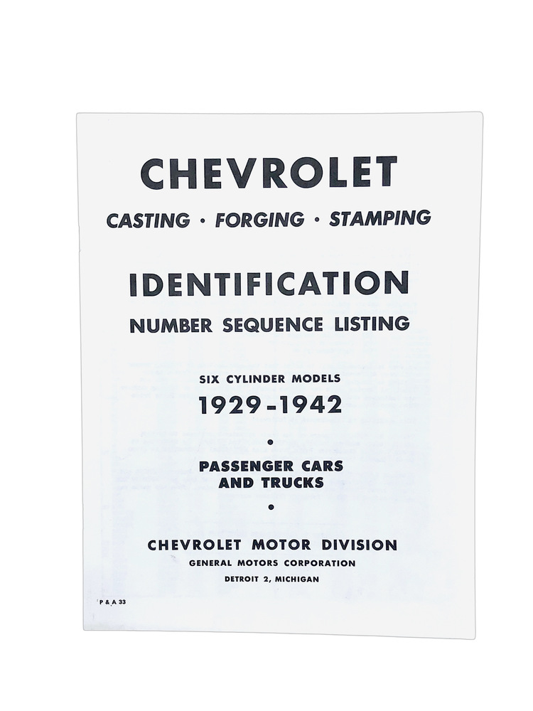 Chevy Parts 187 Printed Material 187 Casting Numbers Chevs