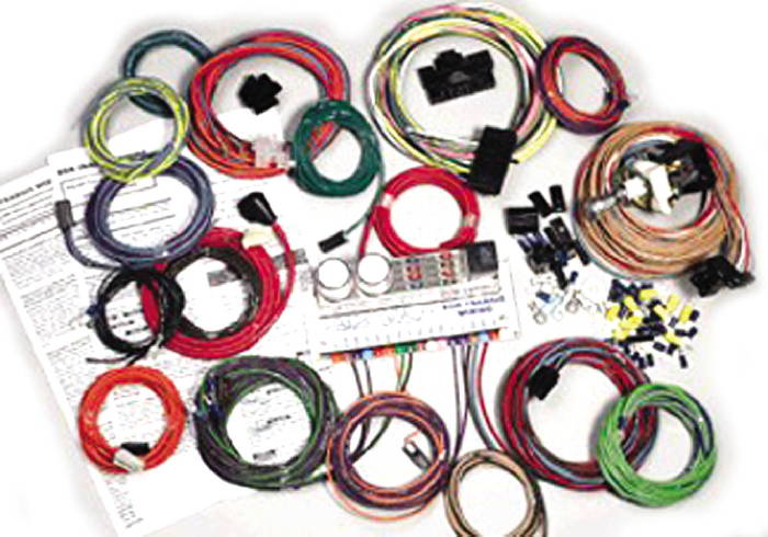 chevy parts wiring harness, 6 volt to 12 volt conversion or 12 24 volt wiring receptacl wiring harness, 6 volt to 12 volt conversion or 12 volt replacement ron francis