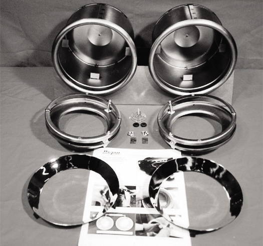 Chevy Parts 187 Headlight Frenched Set Chrome For 7