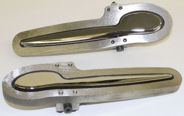 Parts -  Door Handle Set, Exterior -Spoon Style in Chromed Metal, KINDIG IT DESIGN
