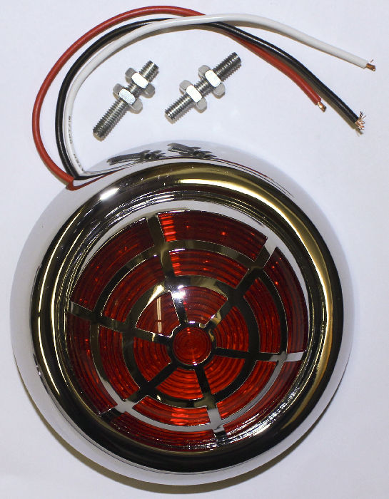 Pontiac Parts -  Tail Light, LED -50s Pontiac Style Flush Mount -With Spider Style Overlay 12 Volt