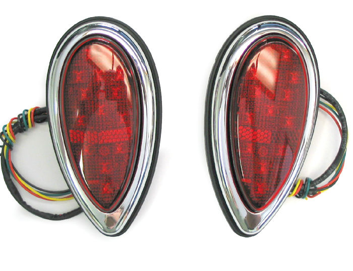 Chevy Parts 187 Tail Light Led Tear Drop 38 39 Ford Flush
