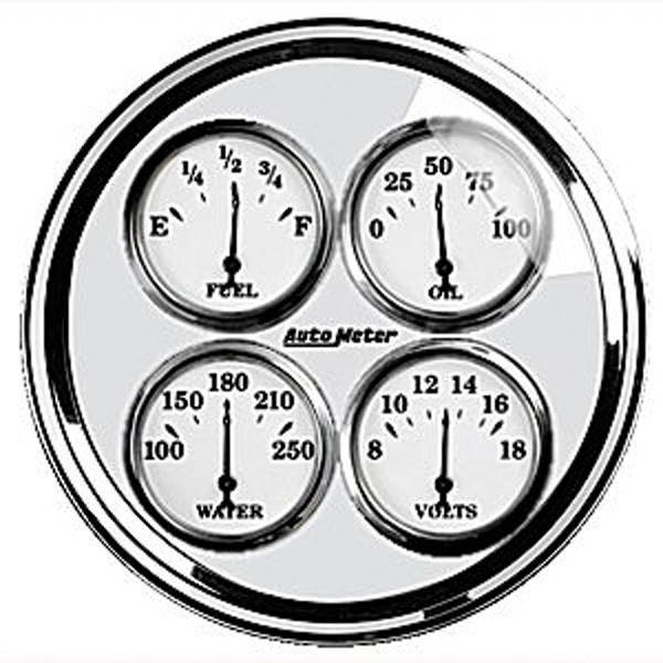 chevy parts instrument gauges auto meter old tyme white ii 1939 Mack Cabover instrument gauges auto meter old tyme white ii series 5 quad gauge photo
